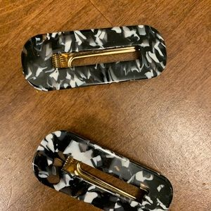 Urban Outfitters Black and White Hair Clips